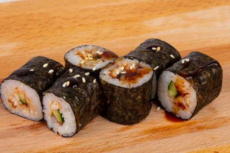 Roll Unagi Maki with eel