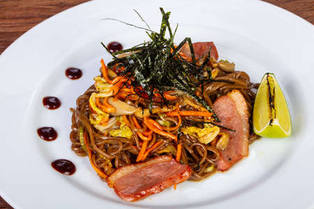 Japanese Kamo soba - noodle with duck