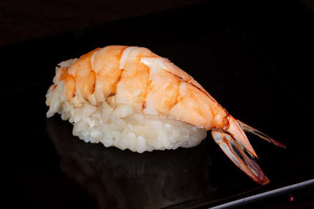 Japanese cold sushi with prawn Фото со стока