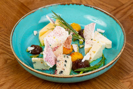 Cheeses plate mix served estragon