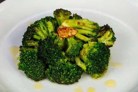 Tasty broccoli with olive oil