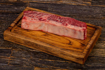 Raw beef steak Short Ribs Black Angus 免版税图像