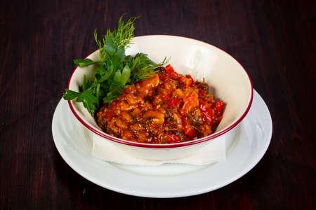 Georgian cuisine - ajapsandali with vegetables Stock Photo