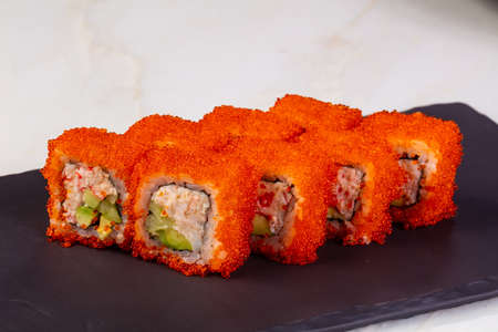 California roll with natural crab