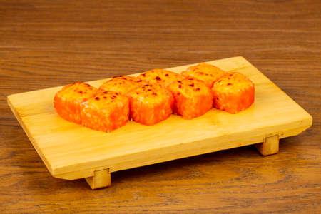 Tasty fried California sushi rolls