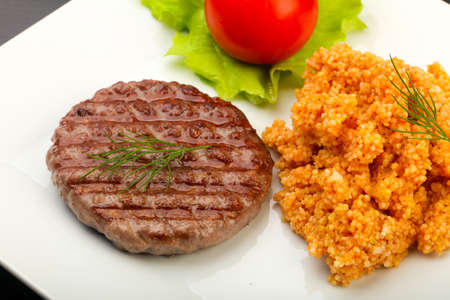 Burger cutlet with cous-cous