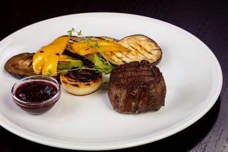 Delicious beef stake and vegetables