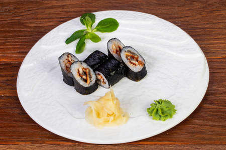 Maki roll Unagi with eel
