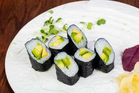 Japanese traditional cold avocado roll
