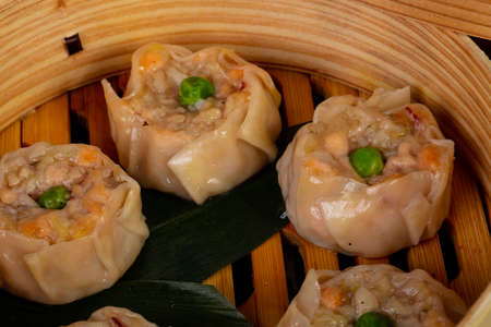 Japanese traditional dumplings with prawn