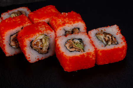 Japanese traditional roll with eel 写真素材