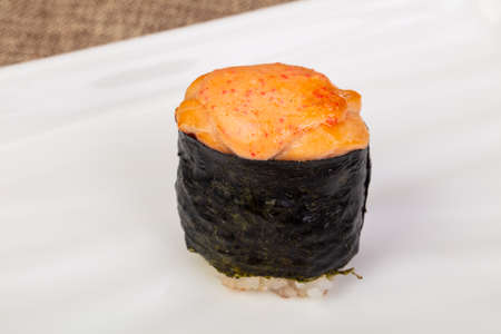 Spicy gunkan sushi with sauce 写真素材