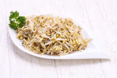 Pickled soya bean in the bowl Banque d'images