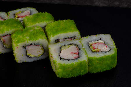 Japanese traditional roll with prawn 写真素材