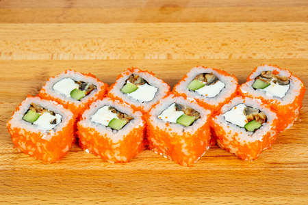 Roll with eel and cucumber