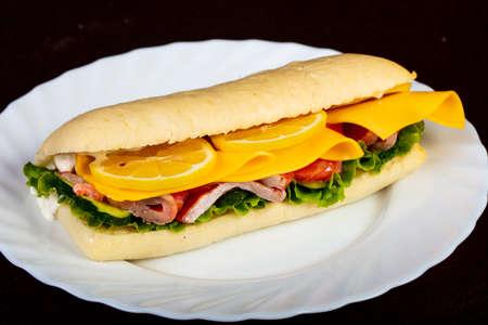 Panini with salmon and lemon
