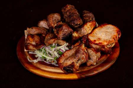 Shashlik kebab set - pork, beef, lamb, chicken