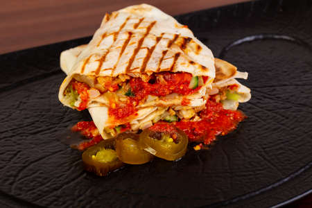Shawarma with meat and vegetables Stockfoto