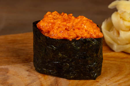 Japanese tradtional spicy gunkan sushi