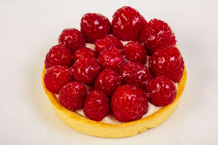 Sweet tasty Tartlets with raspberry Stock fotó