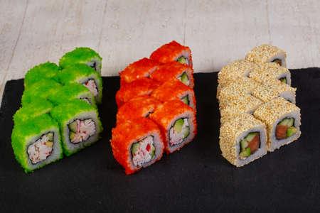 Japanese Sushi set with fish