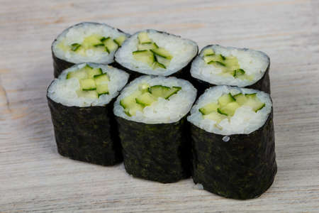 Japanese cold roll with cucumber