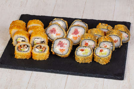 Japanese baked roll with fish