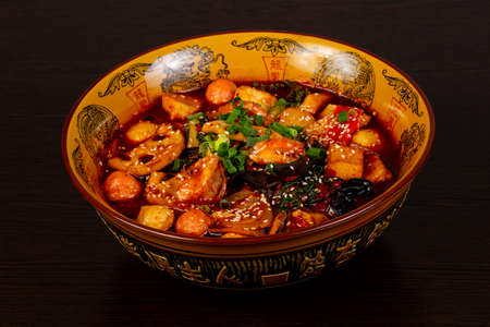 Chinese cuisine Mala Tang soup Banque d'images