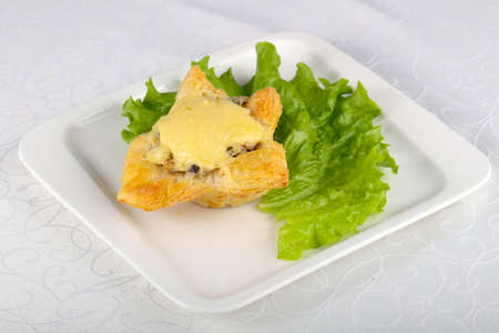 Mushroom pastry with cheese