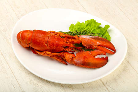 Delicous cuisine - Boiled Lobster ready for eat Standard-Bild