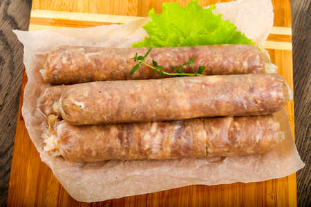 Natural sausages for grill or roast