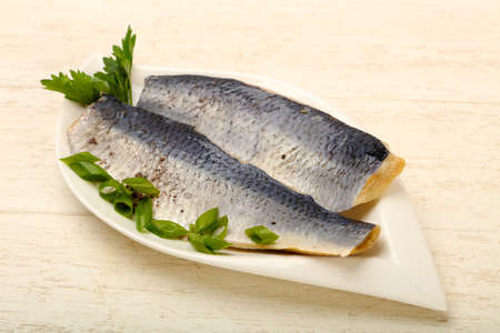 Herring fillet with skin 版權商用圖片