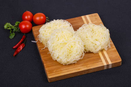 Raw rice noodle ready for cooking Stock Photo