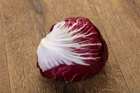 Fresh radicchio salad for cooking