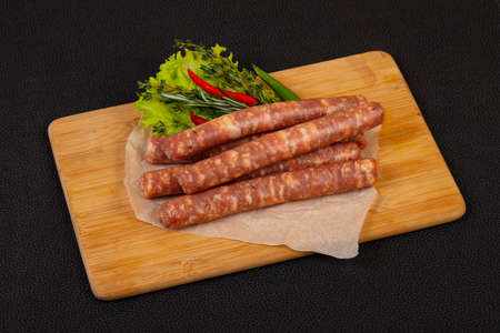 Raw pork sausages for grill 版權商用圖片