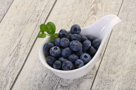 Sweet tasty Blueberry in the bowl Stockfoto