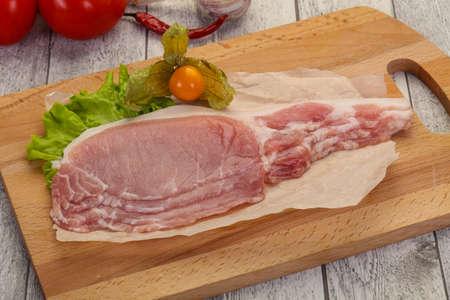 Raw pork bacon ready for cooking Zdjęcie Seryjne