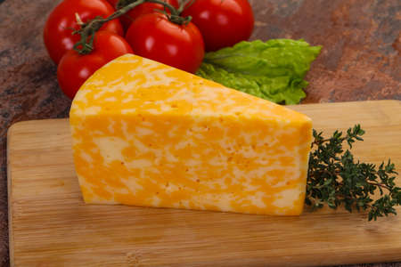 Marble delicious cheese served thyme