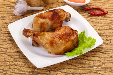 Crispy tasty Roasted chicken leg