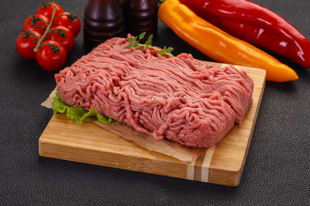 Raw turkey minced meat for cooking Standard-Bild - 120975674