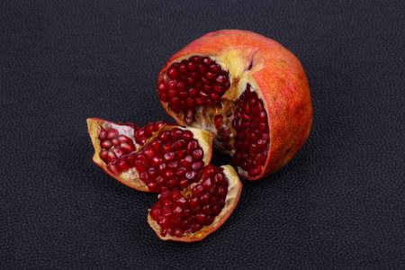 Ripe tasty sweet pomegranate fruit Reklamní fotografie