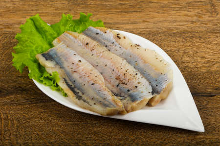 Herring fillet with pepper Banco de Imagens