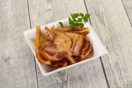 Pork ear snack in the bowl Imagens