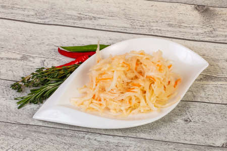 Pickled cabbage - sauerkraut with thyme and rosemary