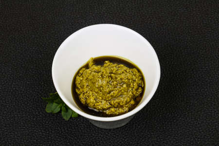 Basil sauce Pesto in the bowl
