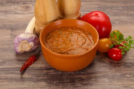 Famous Spanish gazpacho tomato cold soup Reklamní fotografie