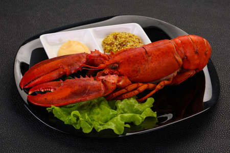 Luxury Lobster with sauces - ready for eat