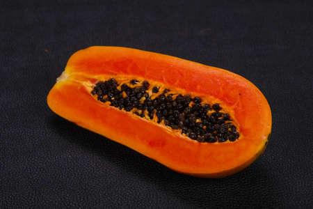 Tasty delicous ripe fruit Papaya sliced