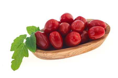 Sweet Red cherry tomatoes in the bowl Stock Photo