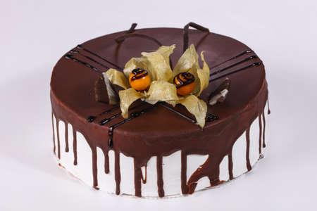 Delicous Cake chocolate with cream Stok Fotoğraf